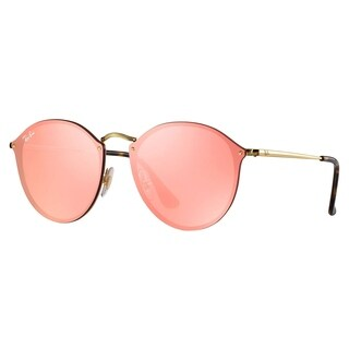 Ray-Ban RB3574N Blaze Round Sunglasses Gold/ Pink Mirror 59mm