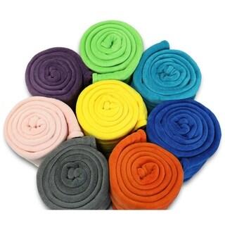 Linen Avenue Bliss Twin Tangerine Micro Plush Blanket
