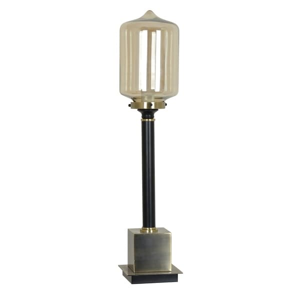 Sylvan Antique Brass and Black 30.5-inch Table Lamp