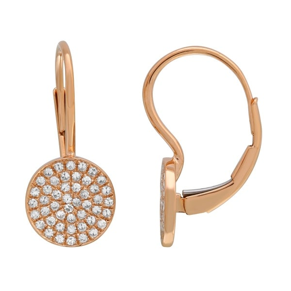 Lucia Costin Rose Gold Diamond Earrings Kids Young S
