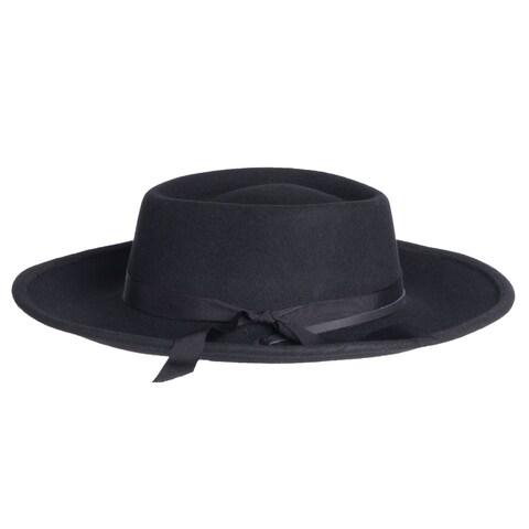 Mens Wyatt Earp Style Wide Brim Wool Fedora Hats