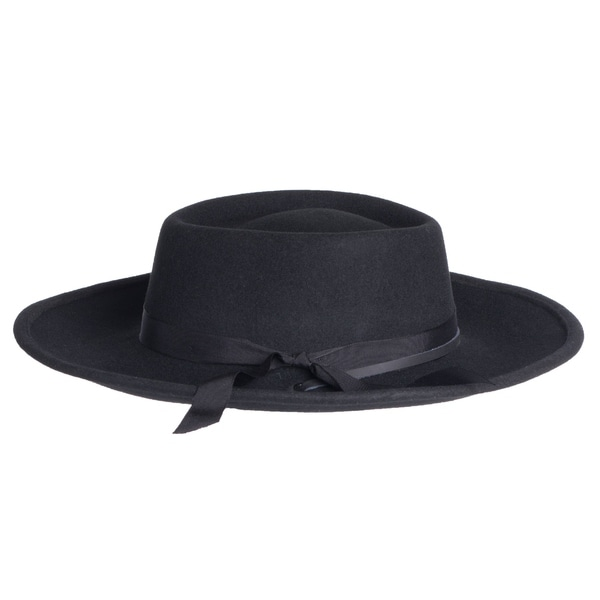 709596aaa9b1c Shop Mens Wyatt Earp Style Wide Brim Wool Fedora Hats - Free ...