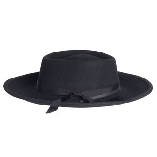 Mens Wyatt Earp Style Wide Brim Wool Fedora Hats