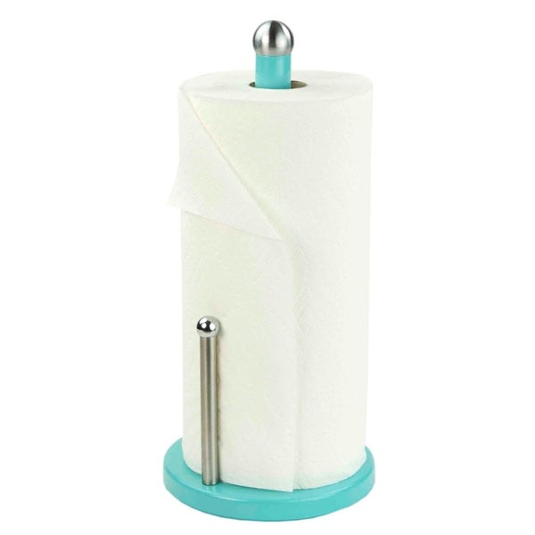 Home Basics Turquoise Powder Coated Steel Paper Towel Holder. Opens flyout.