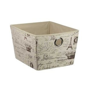 Home Basics Paris Natural Non-woven Open Storage Box