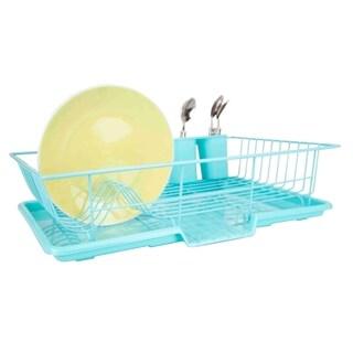 Home Basics Turquoise 3-piece Dish Drainer