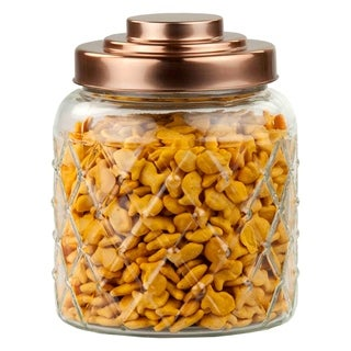 Home Basics Glass 0.7-gallon Air-tight Jar with Copper Lid