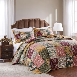 Link to Greenland Home Fashions Antique Chic 3-piece Cotton Bedspread Set Similar Items in Bedspreads