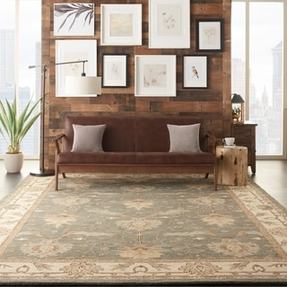 Link to Nourison Hand-tufted Wool Persian Vine and Bloom Area Rug Similar Items in Transitional Rugs