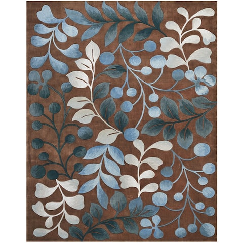 Nourison Hand-tufted Contours Contemporary Oversized Leaf and Branch Area Rug