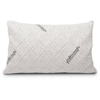 Cr Sleep Shredded Bamboo Queen Memory Foam Pillow w' Free Pillowcase, Queen - N/A