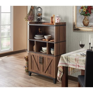 Attirant Furniture Of America Holcomb Rustic Distressed Walnut Buffet Cabinet   N/A