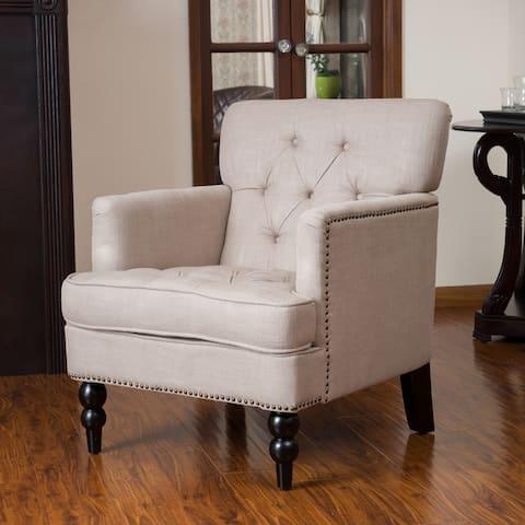 Malone Beige Club Chair