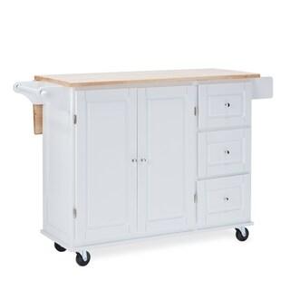 White Kitchen Cart | Buy White Kitchen Carts Online At Overstock Our Best Kitchen