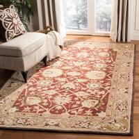 Safavieh Handmade Anatolia Beige/ Beige Hand-spun Wool Rug