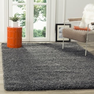 Safavieh Cozy Plush Dark Grey/ Charcoal Shag Rug
