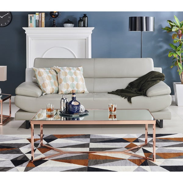 Bon Furniture Of America Rochelle Glam Rose Gold Coffee Table