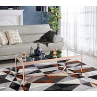 Furniture of America Rochelle Glam Rose Gold Coffee Table