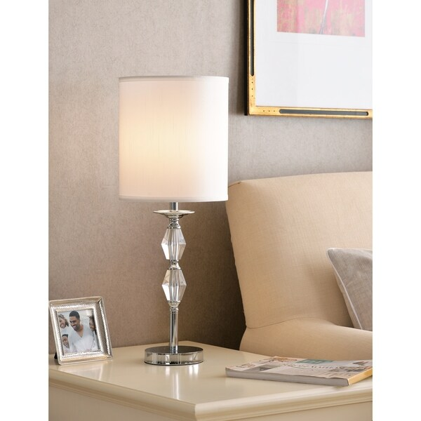 """Design Craft Eloise 24.75"""" Accent Lamp - Chrome with Crystal Accents"""