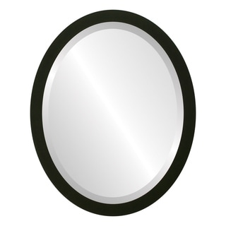Manhattan Framed Oval Mirror in Matte Black