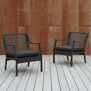 Calvin Chair Set of two Black by Real Flame