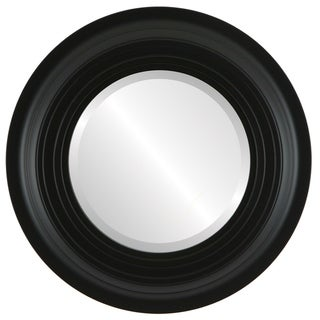 Imperial Framed Round Mirror in Matte Black