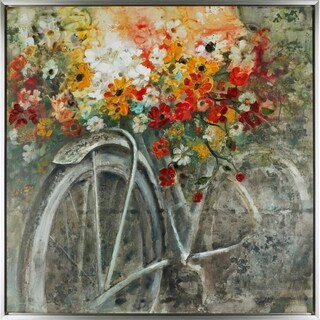 The Bicycle IV, Contemporarty Art, Acrylic on Canvas Art Décor 32.5x32.5X1.5, Ready to hang, ArtMaison.ca