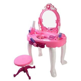 Glamour Battery Operated Toy Vanity Mirror Dresser Playset