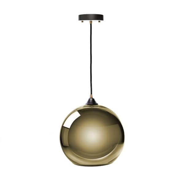 Single Sphere Pendant Lamp- Gold Small