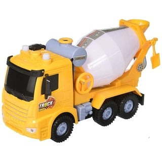 Happy Bubbles Bump & Go Bubble Blowing Toy Cement Mixer Truck