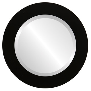 Soho Framed Round Mirror in Matte Black