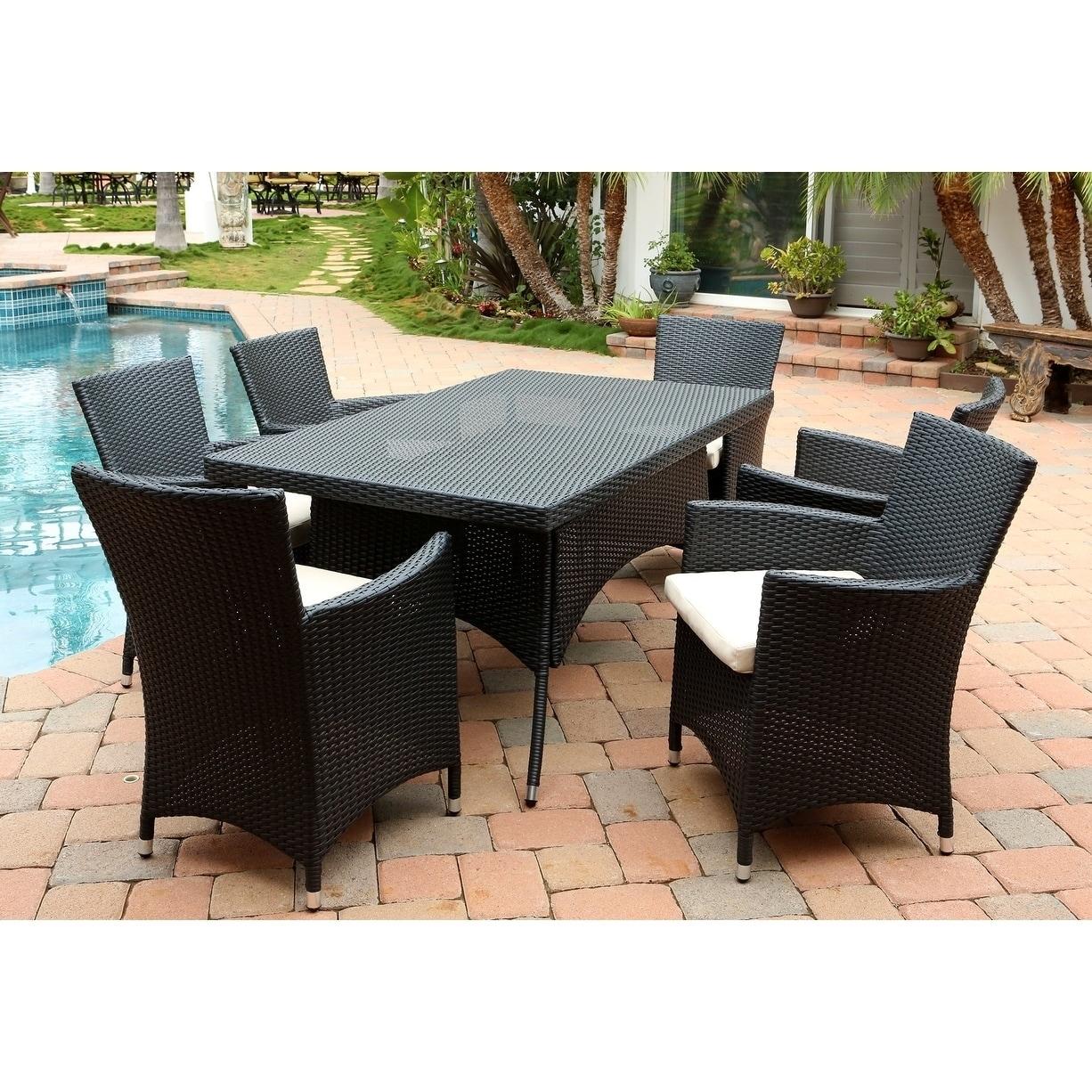 Image is loading Abbyson-Pasadena-Outdoor-Wicker-Dining-Table - Abbyson Pasadena Outdoor Wicker Dining Table EBay