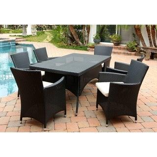 Abbyson Pasadena Outdoor Wicker Dining Table