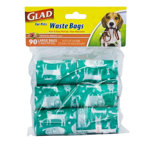 434ade3bde61 6-Pack Glad for Pets Waste Bags In Tropical Breeze Scent, 540 Count.