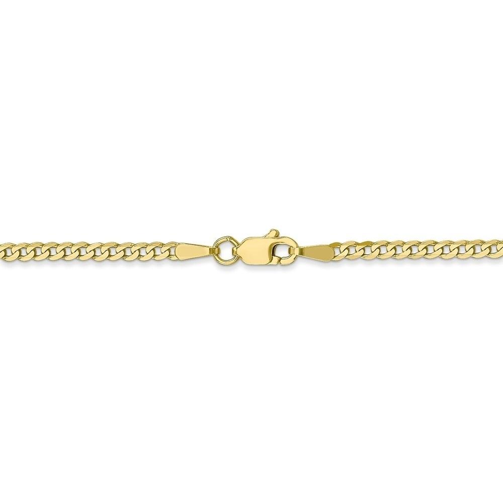 14K Solid Yellow Gold Ankle Bracelet Anklet Curb Link Chain Bracelet 3 mm 8 Inch