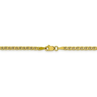 Curata 10k Yellow Gold 10-inch 3.0mm Flat Anchor Chain Anklet Ankle Bracelet for Women