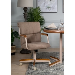 Casual Dining Brown Cushion Wood/ Metal Rolling Caster Chair & Shop Casual Dining Cushion Swivel-and-Tilt Rolling-caster Chair ...