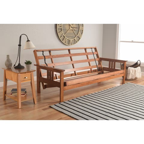 Copper Grove Porters Honey Oak Full-size Wood Futon Frame