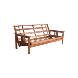 Somette Beli Mont Multi Flex Honey Oak Full Size Wood Futon Frame