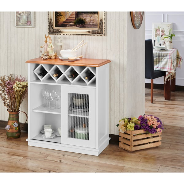 Shop Furniture Of America Saucedo Rustic White Buffet With