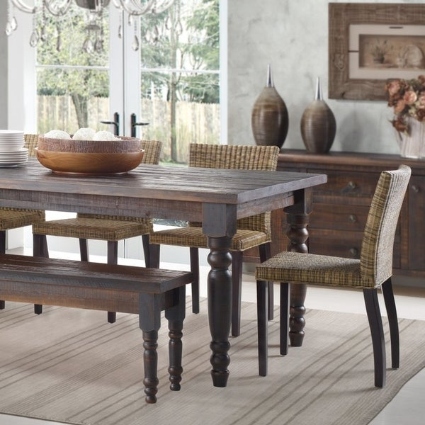 Shop Grain Wood Furniture Valerie 63 Inch Solid Wood Dining Table