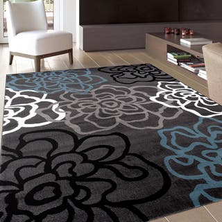 Contemporary Modern Fl Flowers Area Rug