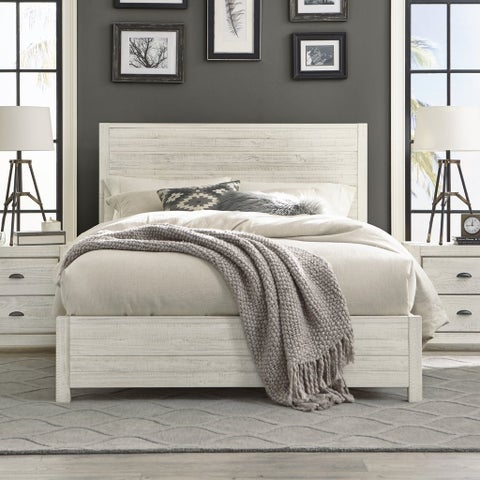 Grain Wood Furniture Montauk Queen Solid Wood Panel Bed