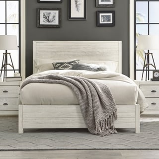 Great Grain Wood Furniture Montauk Queen Solid Wood Panel Bed (4 Options  Available)