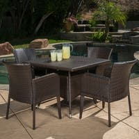 Christopher Knight Home Corsica Outdoor 5-piece Wicker Dining Set