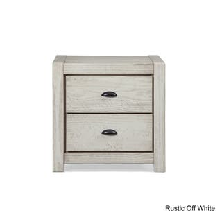 Grain Wood Furniture Montauk 2 Drawer Nightstand Solid