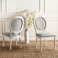 Light Grey Oval Dining Chairs (Set of 2)