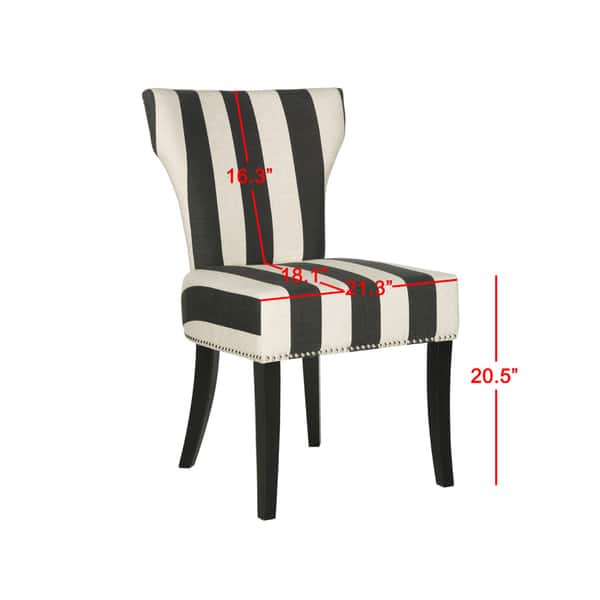 Haver Faded Black And White Striped Dining Chairs Set Of 2 22 8 X 25 8 X 37 Overstock 20603195