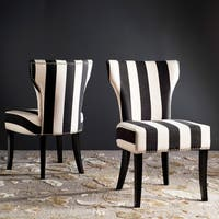 Haver Black and White Striped Dining Chairs (Set of 2)