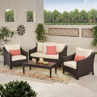 Oliver U0026 James Moses 4 Piece Outdoor Chat Set